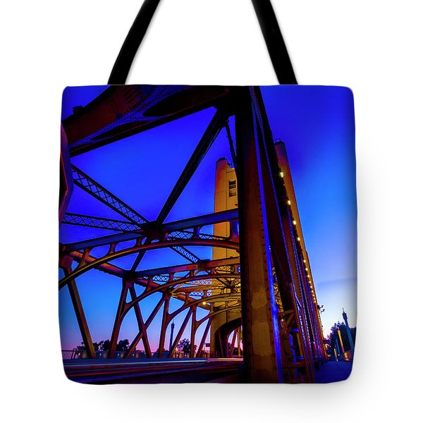 Tote Bag featuring the photograph Blue Sunset- by JD Mims