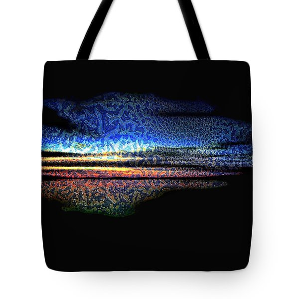 Blue Sunset On The Lake  Tote Bag