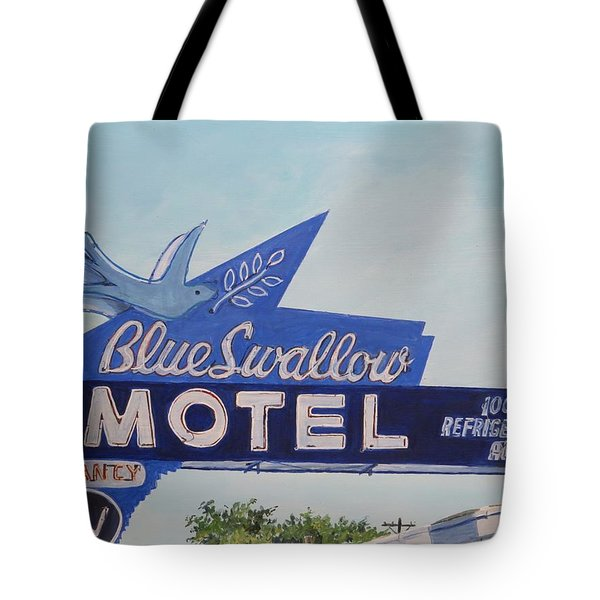 Blue Swallow Tote Bag