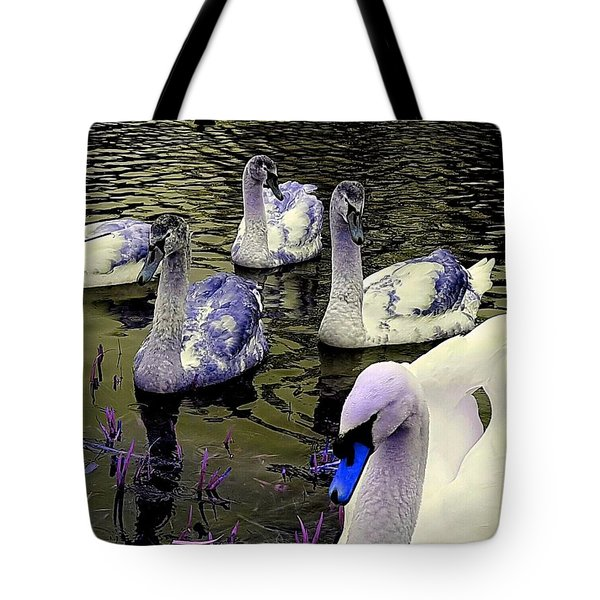 Blue Swan Tote Bag