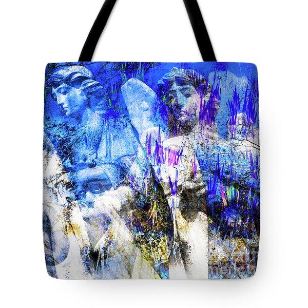 Blue Symphony Of Angels Tote Bag