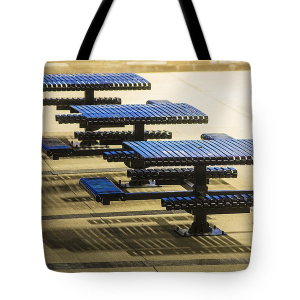 Blue Tables-6747a Tote Bag