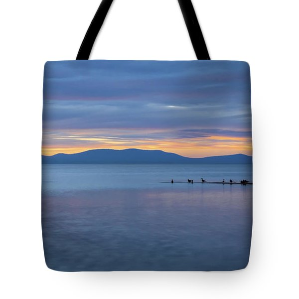Blue Tahoe Sunset Tote Bag