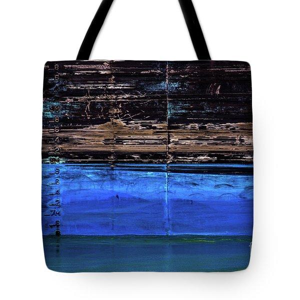 Blue Tanker Tote Bag