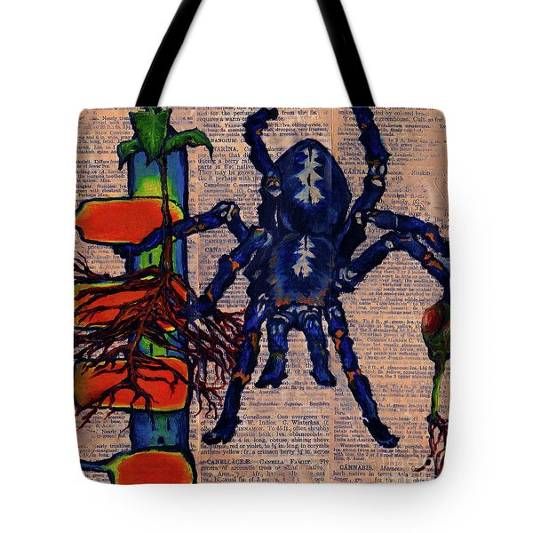 Blue Tarantula Tote Bag