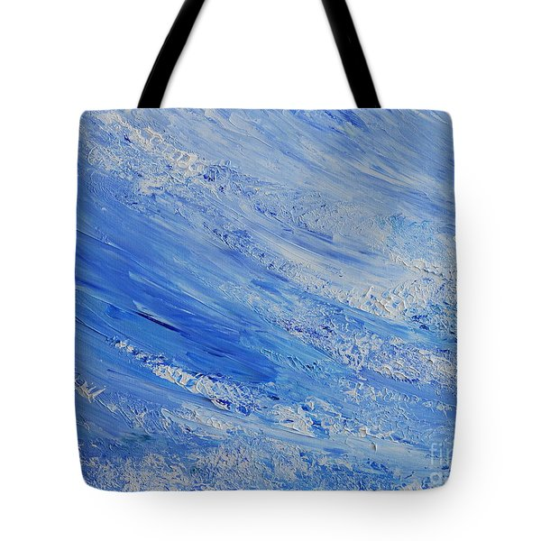 Blue Tote Bag by Teresa Wegrzyn