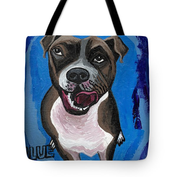 Blue The Pit Bull Terrier Tote Bag