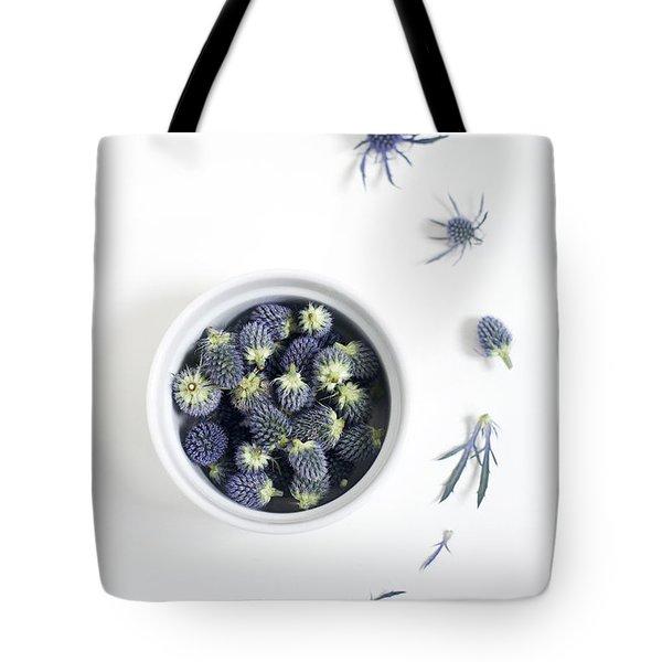 Blue Thistle Still Life Tote Bag