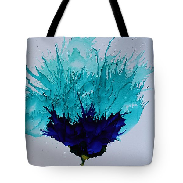 Blue Thistle Tote Bag by Suzanne Canner
