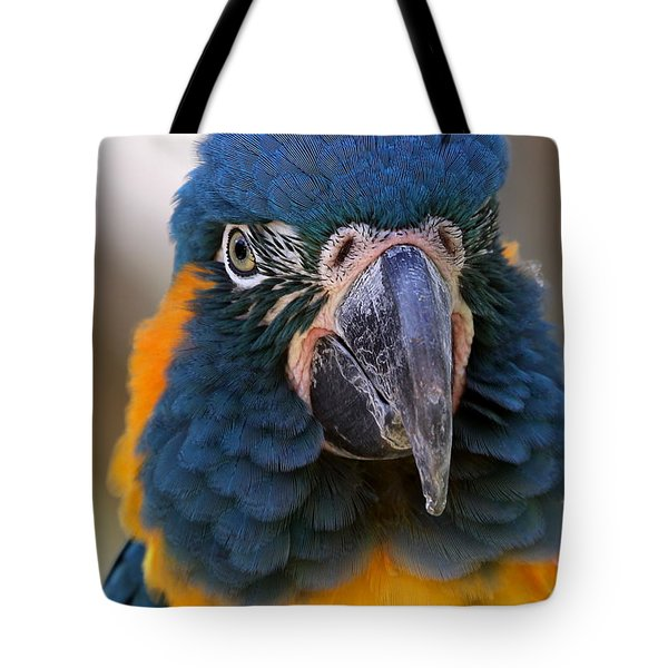 Blue-throated Macaw Close-up Tote Bag
