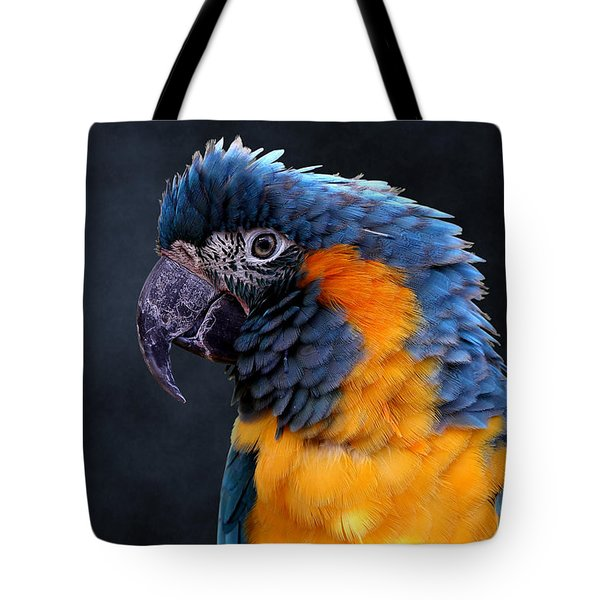 Blue-throated Macaw Profile Tote Bag