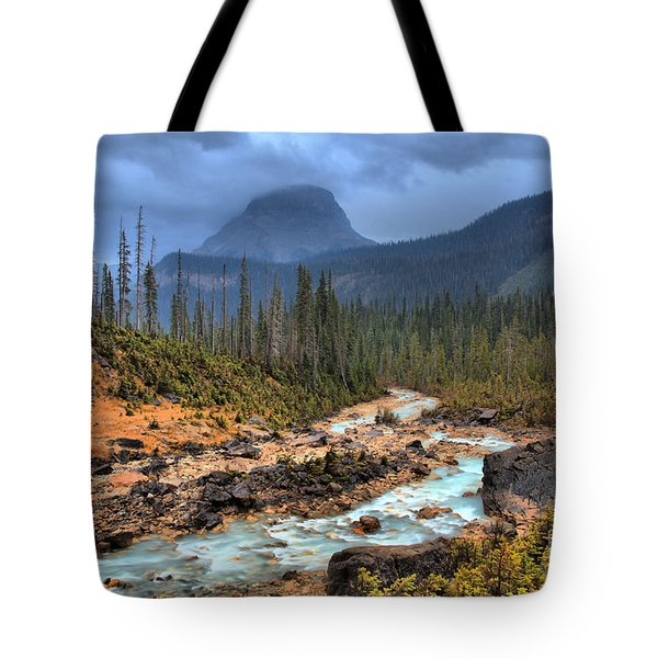 Tote Bag featuring the photograph Blue Through The Yoho Valley by Adam Jewell