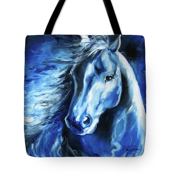 Blue Thunder  Tote Bag by Marcia Baldwin
