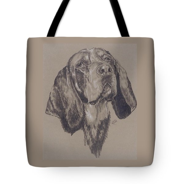Bluetick Coonhound In Graphite Tote Bag
