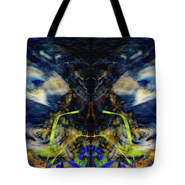 Blue Tigers Devil Tote Bag