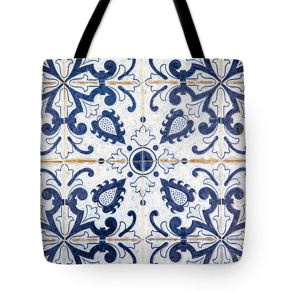 Blue Tile Of Portugal Tote Bag
