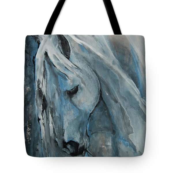 Tote Bag featuring the painting Tranquility by Jani Freimann