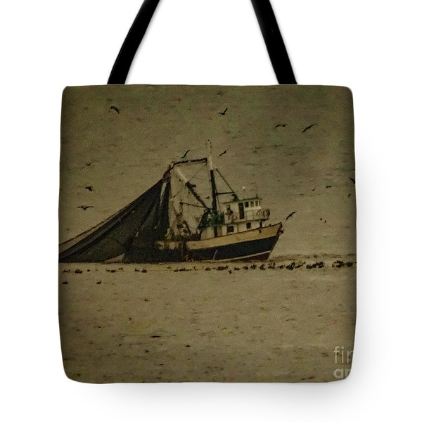 Blue Trawler 2 Tote Bag