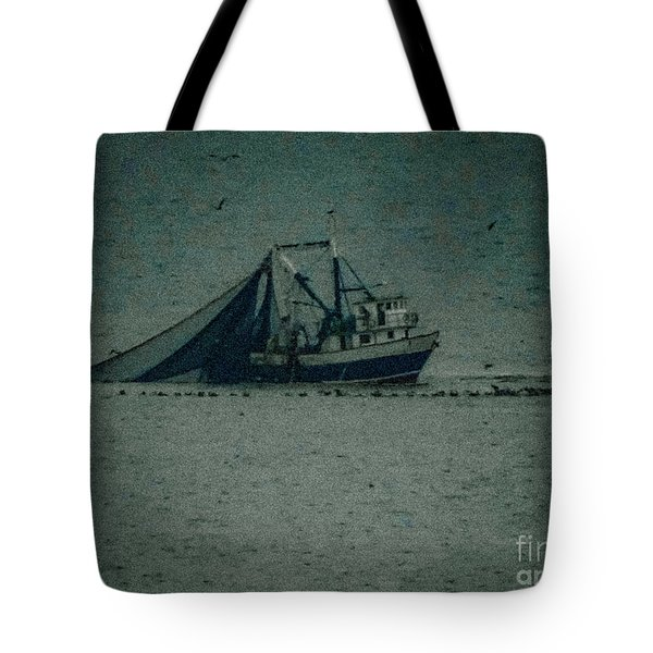Blue Trawler 3 Tote Bag