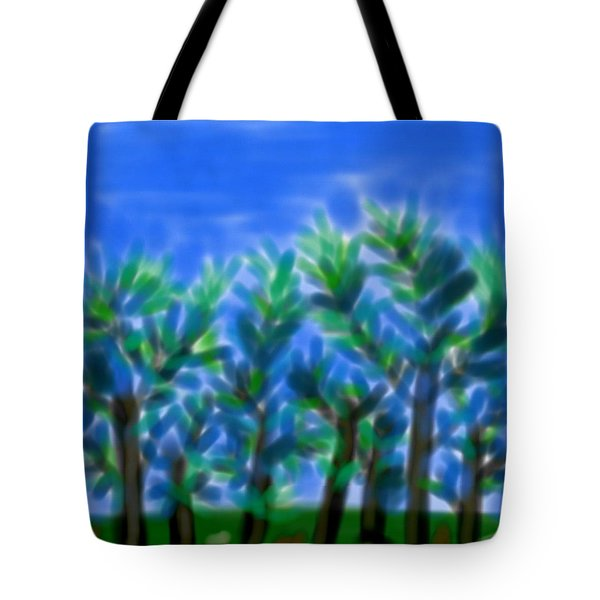 Blue Trees Express Tote Bag