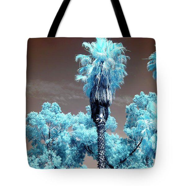 Blue Trees In Jaffa Tote Bag