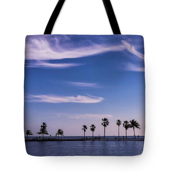 Blue Tropics Tote Bag