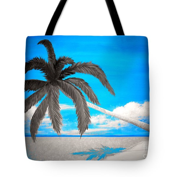 Blue Tropics Tote Bag by Tim Townsend