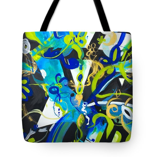 Blue Two Tote Bag