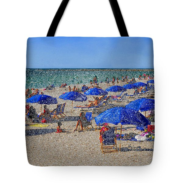 Blue Umbrella  Beach Tote Bag by David Lee Thompson
