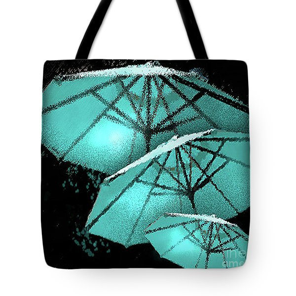 Blue Umbrella Splash Tote Bag