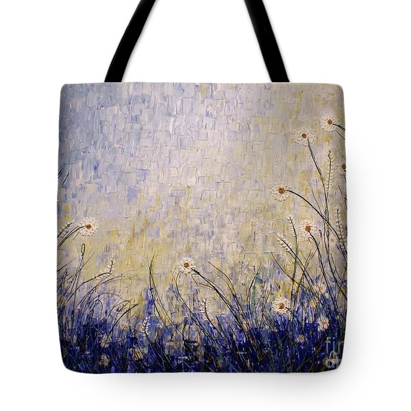Tote Bag featuring the painting Blue Valley by Jane Chesnut