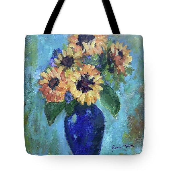 Blue Vase Tote Bag