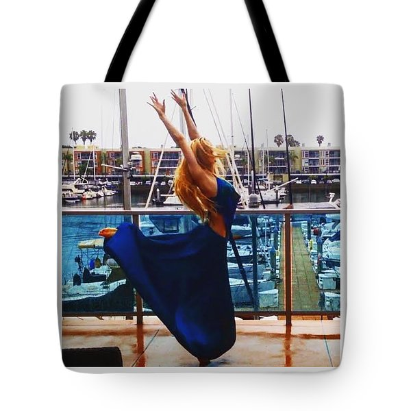 Blue Velvet Rain  Tote Bag