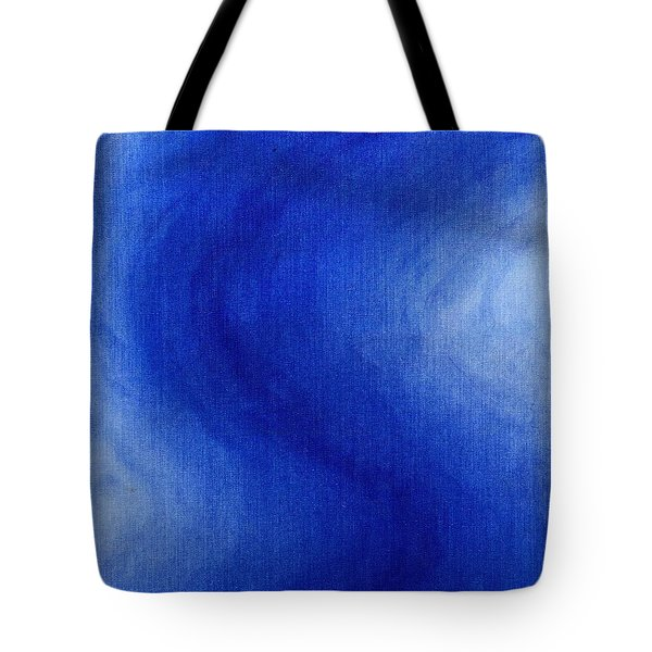 Blue Vibration Tote Bag