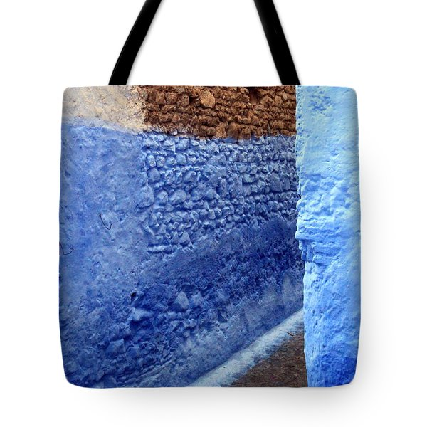Tote Bag featuring the photograph Blue Walls Of Chefchaouen by Ramona Johnston