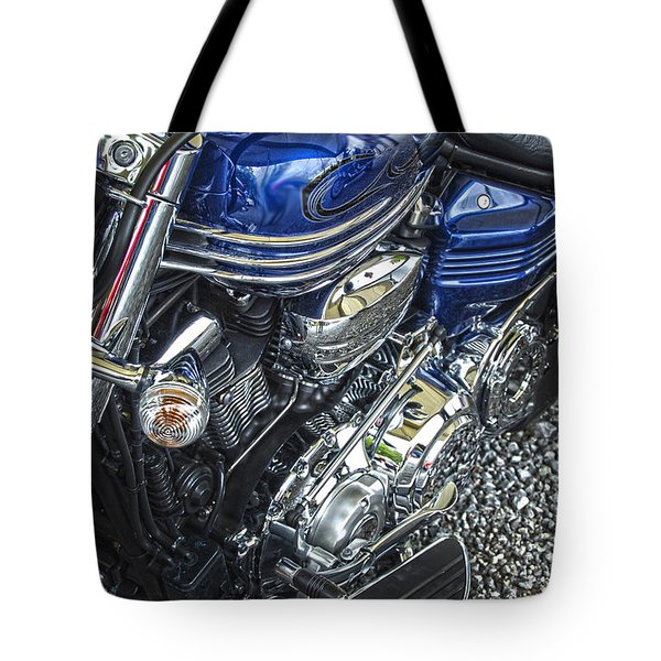 Blue Warrior Hdr Tote Bag by Diane E Berry