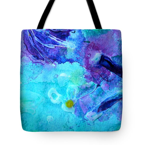 Blue Water Flower Tote Bag