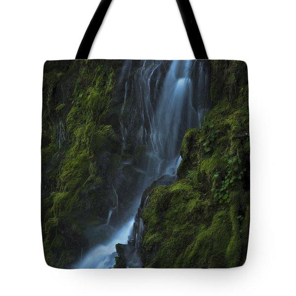 Blue Waterfall Tote Bag