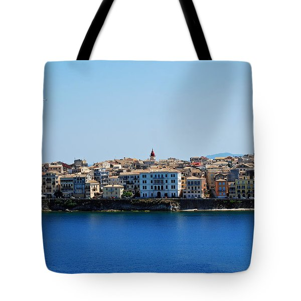Blue Waters Of Corfu Tote Bag
