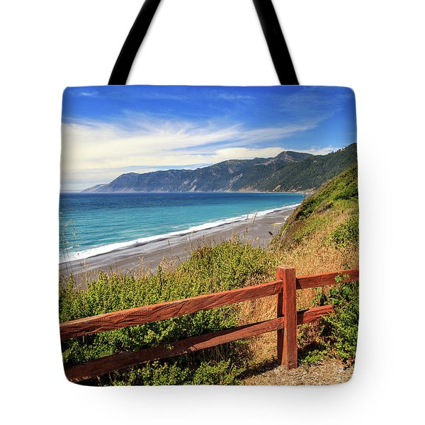Tote Bag featuring the photograph Blue Waters Of The Lost Coast by James Eddy