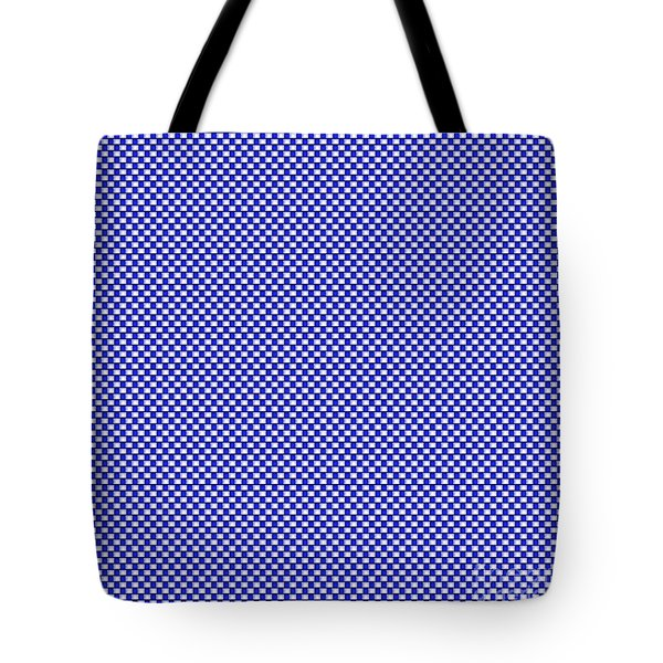 Blue Weave Tote Bag
