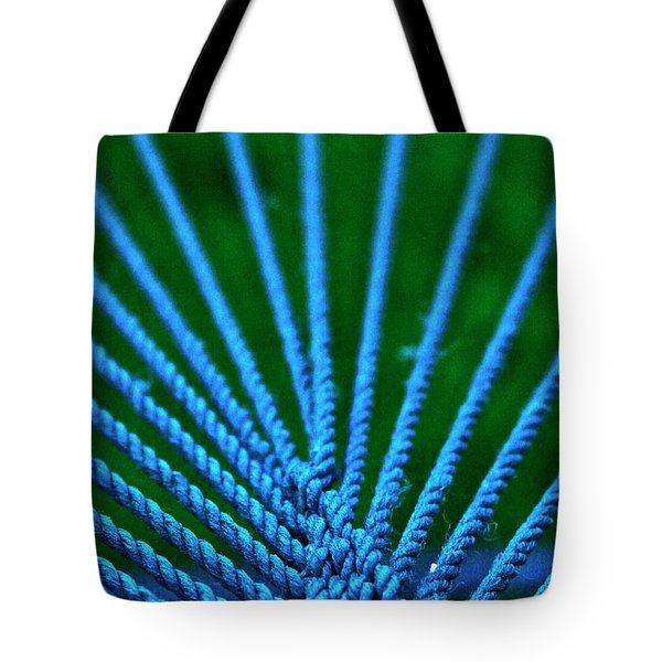 Tote Bag featuring the photograph Blue Weave by Xn Tyler