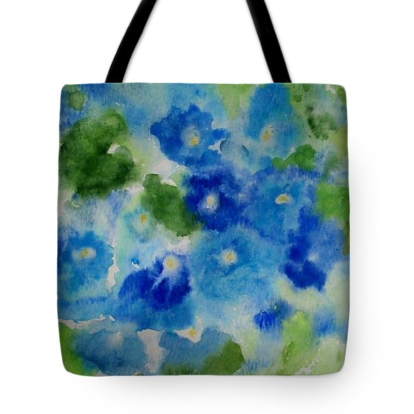 Blue Wet On Wet Tote Bag by Jamie Frier