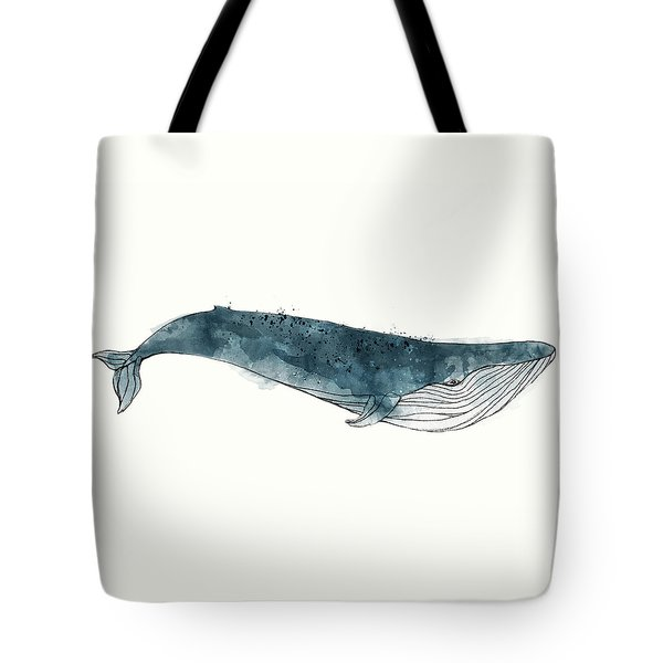 Blue Whale From Whales Chart Tote Bag by Amy Hamilton