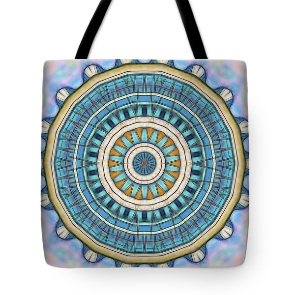 Tote Bag featuring the digital art Blue Wheeler 1 by Wendy J St Christopher