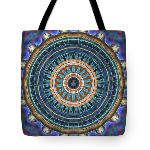 Tote Bag featuring the digital art Blue Wheeler 2 by Wendy J St Christopher
