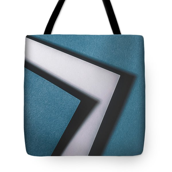Blue White Blue Tote Bag