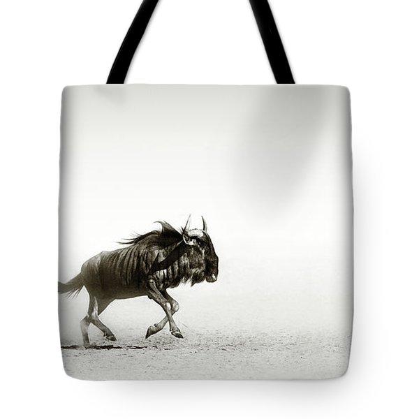 Blue Wildebeest In Desert Tote Bag