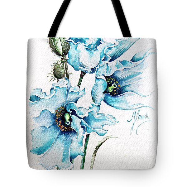 Blue Wind Tote Bag by Anna Ewa Miarczynska