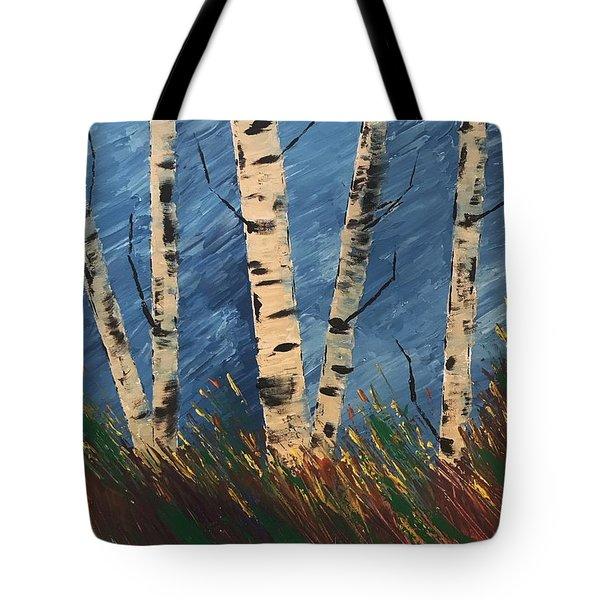 Blue Wind Blew Tote Bag